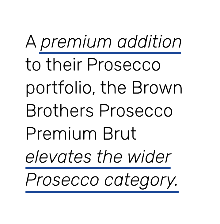 brown brothers prosecco