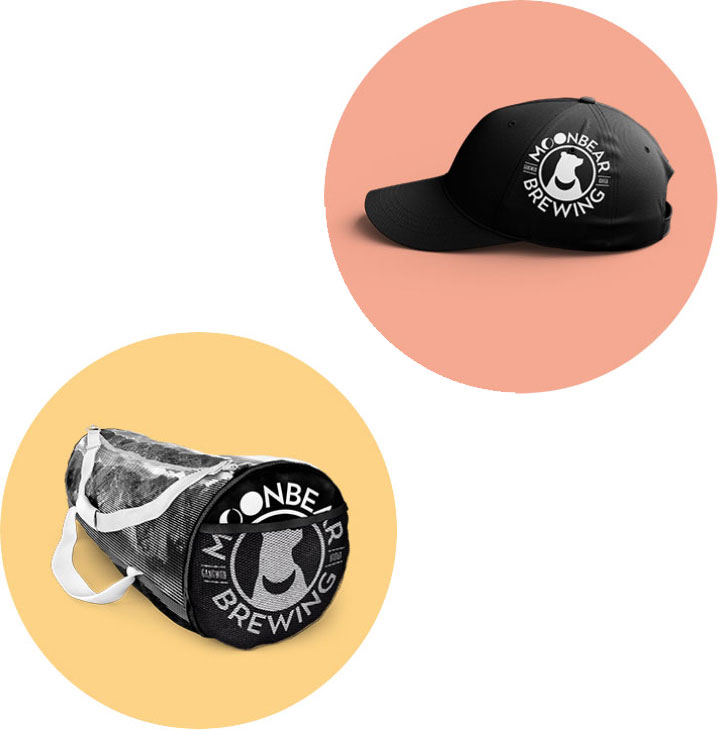 moonbear brewing cap and watch