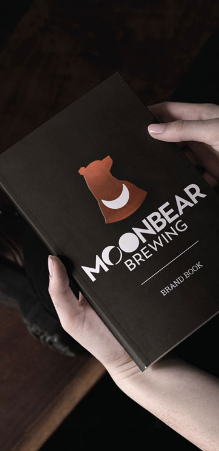 moonbear brewing brand book