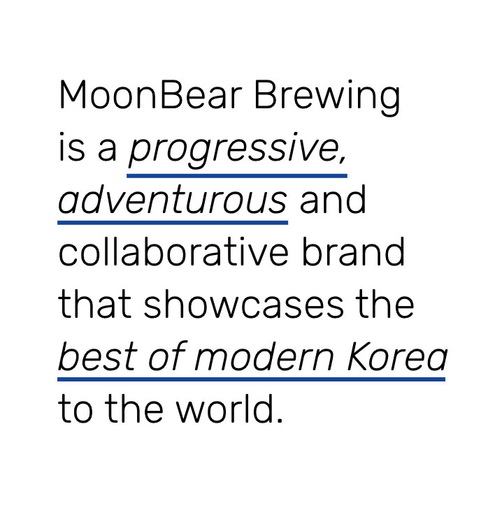 moonbear brewing branding