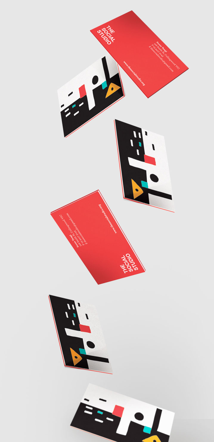 the social studio stationary cards