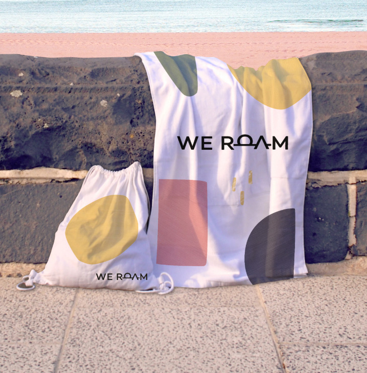 we roam shirt and bag